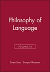 Philosophy of Language, Volume 16 (1405160314) cover image