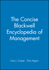 The Concise Blackwell Encyclopedia of Management (0631209115) cover image