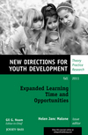 Expanded Learning Time and Opportunities: New Directions for Youth Development, Number 131 (1118184815) cover image