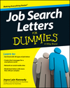 Job Search Letters For Dummies (1118436415) cover image