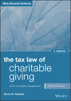The Tax Law of Charitable Giving 2016 Cumulative Supplement, 5th Edition (1119238315) cover image