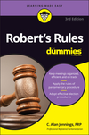 Robert's Rules For Dummies, 3rd Edition (1119241715) cover image