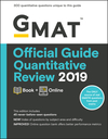 GMAT Official Guide Quantitative Review 2019: Book + Online (1119507715) cover image