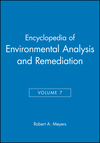 Encyclopedia of Environmental Analysis and Remediation, Volume 7 (0471166316) cover image