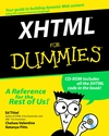 XHTML For Dummies (0764507516) cover image