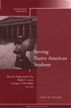 Serving Native American Students: New Directions for Student Services, Number 109 (0787979716) cover image
