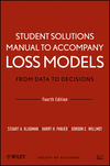 thumbnail image: Loss Models: From Data to Decisions, Student Solutions Manual, 4th Edition