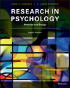 Research in Psychology: Methods and Design, 8th Edition (1119316316) cover image