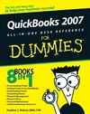 QuickBooks 2007 All-in-One Desk Reference For Dummies (0470085517) cover image