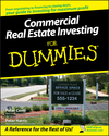Commercial Real Estate Investing For Dummies (0470174919) cover image