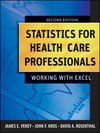 thumbnail image: Statistics for Health Care Professionals: Working With Excel, 2nd Edition