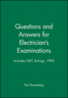 Questions and Answers for Electrician's Examinations: Includes NEC Rulings, 1993 (0020777620) cover image