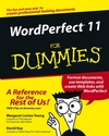 WordPerfect 11 For Dummies (0764543520) cover image