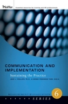 Communication and Implementation: Sustaining the Practice  (0787987220) cover image