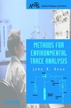 Methods for Environmental Trace Analysis (0470844221) cover image