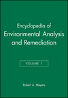 Encyclopedia of Environmental Analysis and Remediation, Volume 1 (0471166421) cover image