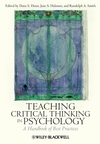 Teaching Critical Thinking in Psychology: A Handbook of Best Practices (1405174021) cover image