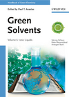 Handbook of Green Chemistry, Volume 6, Green Solvents, Ionic Liquids (3527325921) cover image