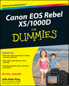 Canon EOS Rebel XS / 1000D For Dummies (0470433922) cover image