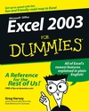 Excel 2003 For Dummies (1118053222) cover image