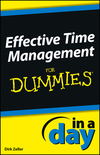 Effective Time Management In a Day For Dummies (1118491122) cover image