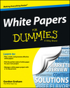 White Papers For Dummies (1118496922) cover image