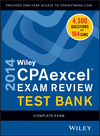 Wiley CPAexcel Exam Review 2014 Test Bank, Complete Set (1118734122) cover image