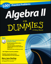 1001 Algebra II Practice Problems For Dummies (1118446623) cover image