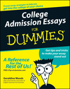 College Admission Essays For Dummies (0764554824) cover image