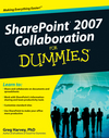 SharePoint 2007 Collaboration For Dummies (0470413425) cover image