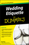Wedding Etiquette For Dummies (0470583525) cover image