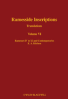 Ramesside Inscriptions, Volume VI, Ramesses IV to XI and Contemporaries: Translations (0631184325) cover image