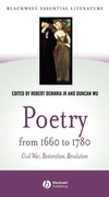 Poetry from 1660 to 1780: Civil War, Restoration, Revolution (0631229825) cover image