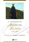 A Companion to American Fiction 1780 - 1865 (0631234225) cover image