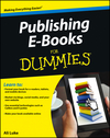 Publishing E-Books For Dummies (1118352025) cover image