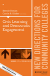 Civic Learning and Democratic Engagement: New Directions for Community Colleges, Number 173 (1119233925) cover image