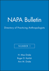 NAPA Bulletin, Number 1, Directory of Practicing Anthropologists (0913167126) cover image