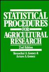 Statistical Procedures for Agricultural Research, 2nd Edition (0471870927) cover image