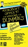 Microsoft Office 97 For Windows For Dummies : Quick Reference (0764500627) cover image