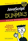 JavaScript For Dummies Quick Reference (0764501127) cover image