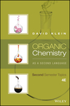 Organic Chemistry As a Second Language: Second Semester Topics, 4th Edition (1119234727) cover image