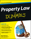 Property Law For Dummies (1118503228) cover image