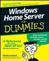 Windows Home Server For Dummies (0470185929) cover image