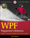 WPF Programmer's Reference: Windows Presentation Foundation with C# 2010 and .NET 4 (0470477229) cover image