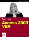 Beginning Access 2003 VBA (0764579029) cover image