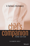The Chef's Companion: A Culinary Dictionary, 3rd Edition (047139842X) cover image