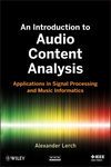 An Introduction to Audio Content Analysis: Applications in Signal Processing and Music Informatics (111826682X) cover image