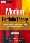 Modern Portfolio Theory: Foundations, Analysis, and New Developments, + Website (111837052X) cover image