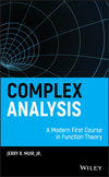 thumbnail image: Complex Analysis: A Modern First Course in Function Theory