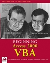 Beginning Access 2000 VBA (0764543830) cover image